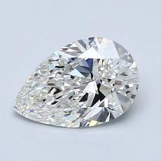 1.02-Carat Pear Diamond Very Good H IF