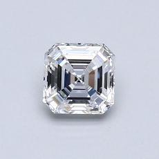 Piedra recomendada 2: Diamante de talla Asscher de 0.53 quilates