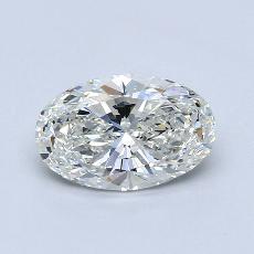 1.51 Carat 橢圓形 Diamond 非常好 H VS1