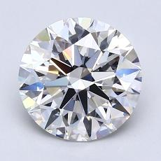 2.01-Carat Round Diamond Ideal F VVS2