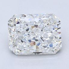 Pierre cible : Diamant taille radiant 2,01 carats