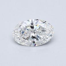0.50 Carat 椭圆形 Diamond 非常好 E VVS1