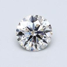 0,60 Carat Rond Diamond Idéale I VS2