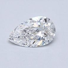 0.51-Carat Pear Diamond Very Good D VVS1