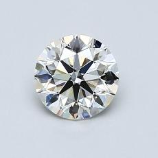 0.80-Carat Round Diamond Ideal J VVS2