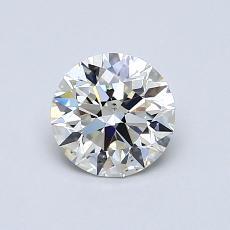 0,80-Carat Round Diamond Ideal I SI1