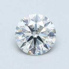0,81-Carat Round Diamond Ideal I SI2