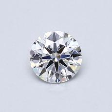 0.50-Carat Round Diamond Ideal E VS1