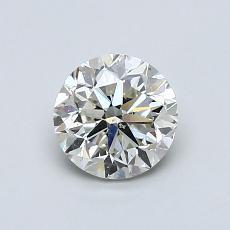 0.90 Carat 圆形 Diamond 良好 K SI2