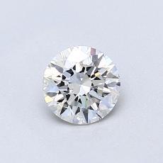 0.52-Carat Round Diamond Ideal E IF