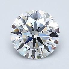 1.62-Carat Round Diamond Ideal D IF