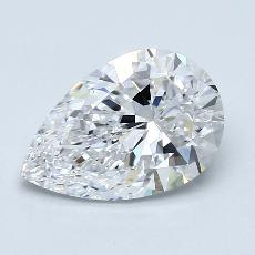 Recommended Stone #1: 1,80-Carat Pear Cut Diamond