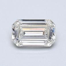 推薦鑽石 #1: 0.77  克拉綠寶石形切割鑽石