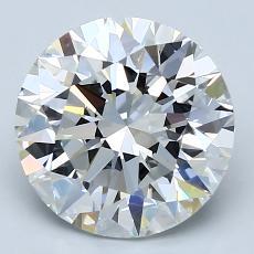 3.02-Carat Round Diamond Ideal F VS1