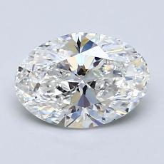 1.51-Carat Oval Diamond Very Good F VVS2