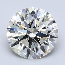 2,51 Carat Rond Diamond Idéale K VS1