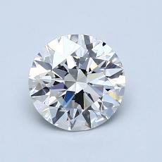 推荐宝石 4:1.05克拉圆形切割钻石