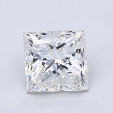 Pierre recommandée n°3: Diamant taille princesse 1,30 carat