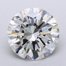 4.03-Carat Round Diamond Ideal I VVS2