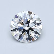 1.01-Carat Round Diamond Ideal D VVS2