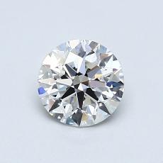 0,70-Carat Round Diamond Ideal G VVS2