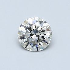 0,50 Carat Rond Diamond Idéale J SI1