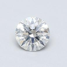 0,52-Carat Round Diamond Ideal I SI2