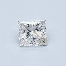 0.50 Carat 公主方形 Diamond 非常好 F SI1