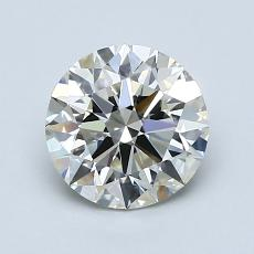 1.30-Carat Round Diamond Ideal K VVS2