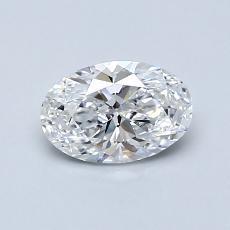 0.70 Carat 橢圓形 Diamond 非常好 D VS1