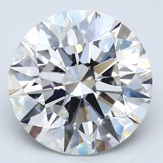 推荐宝石 1:4.01克拉圆形切割钻石