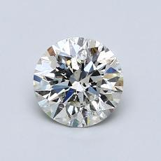 0.80-Carat Round Diamond Ideal J SI2