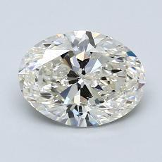 1,50 Carat Ovale Diamond Très bonne K SI1