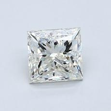 1.00 Carat 公主方形 Diamond 良好 K SI2