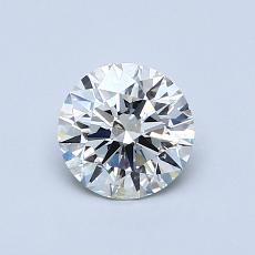 0.72 Carat 圆形 Diamond 理想 J SI2