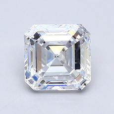 1,26-Carat Asscher Diamond Very Good D IF