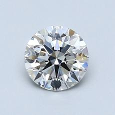 0.90-Carat Round Diamond Ideal I VS2