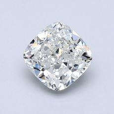 1.00-Carat Cushion Diamond Very Good H VVS1