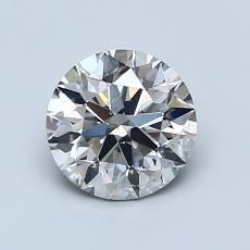 1.02-Carat Round Diamond Ideal J SI2