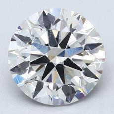 3,01-Carat Round Diamond Ideal I SI1