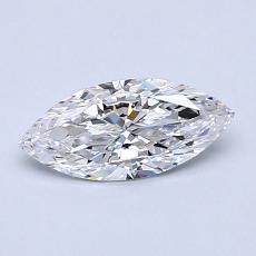 0.51-Carat Marquise Diamond Very Good D VVS1