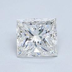 1.01 Carat 公主方形 Diamond 非常好 E VVS1