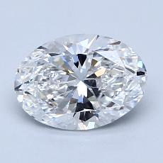 1.50-Carat Oval Diamond Very Good D VVS2