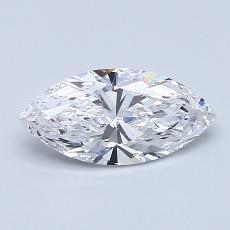 1.01 Carat 欖尖形 Diamond 非常好 D IF