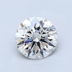 1,00-Carat Round Diamond Ideal F VVS2