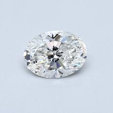 0.50 Carat 橢圓形 Diamond 非常好 F SI1
