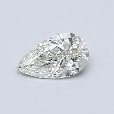 Piedra recomendada 2: Diamante en forma de pera de0.43 quilates