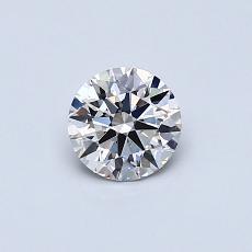 0,43-Carat Round Diamond Ideal H VS1