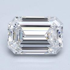 3,01-Carat Emerald Diamond Very Good D FL