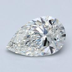 Recommended Stone #1: 1.25-Carat Pear Cut Diamond